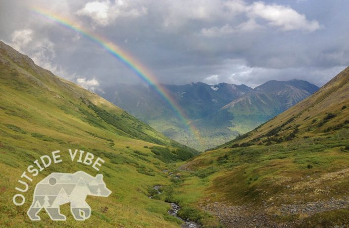 Rainbow in the Mountains