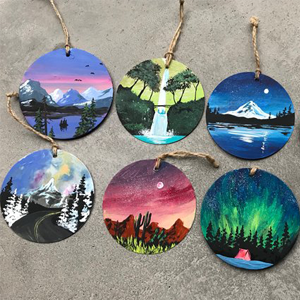 Bittersweet Canvas Ornaments